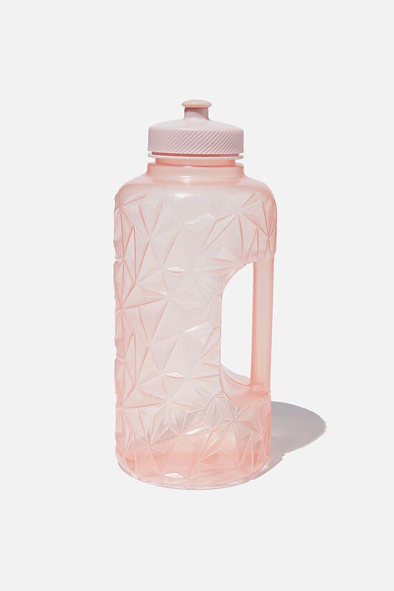 Faceted Drink Bottle, SOFT PINK
