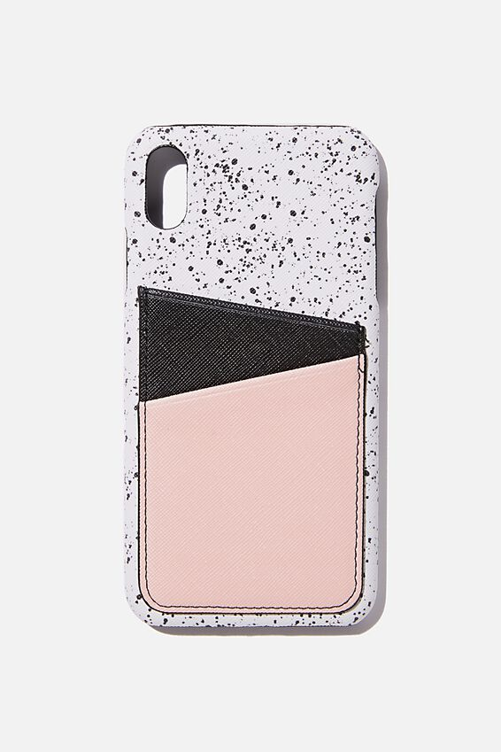 Cardholder Phone Case Iphone Xs Max, SPLATTER SPLICED