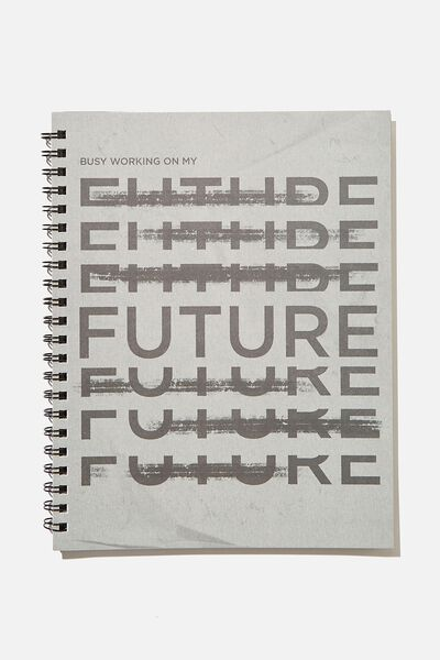 A4 Campus Notebook Recycled, GREY FUTURE