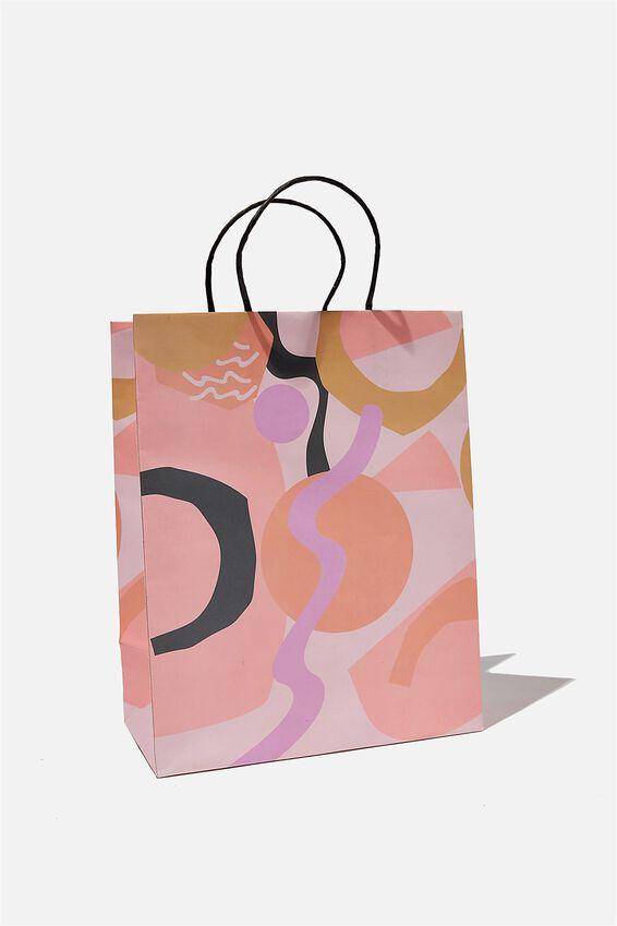 Get Stuffed Gift Bag - Medium, BLUSH ABSTRACT
