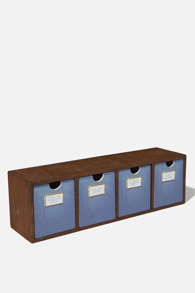 Quick Desk Drawer Storage, DARKWOOD