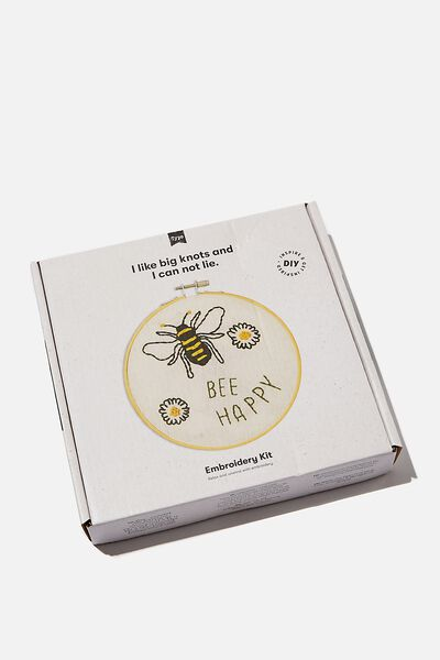 Embroidery Kit, BEES AND PLANTS