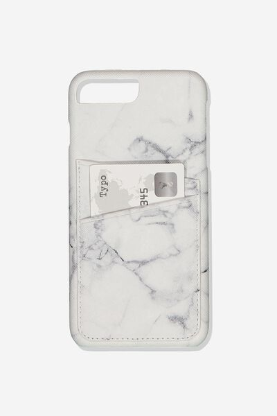 The Cardholder Phone Cover 6,7,8 Plus, MARBLE