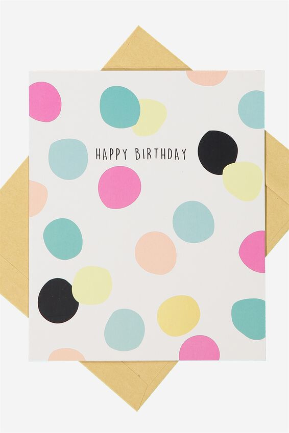 Nice Birthday Card, BIRTHDAY SPOTS