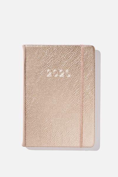 2020 A5 Daily Buffalo Diary, ROSE GOLD