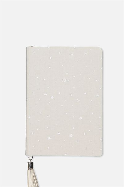 2019 Fabric Diary, GREY STARS