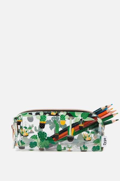 Bailey Pencil Case, CACTUS YARDAGE