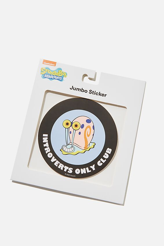 SpongeBob Jumbo Sticker, LCN NIC FEELING STRESSED