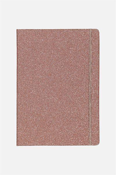 Large Buffalo Journal, ROSE GOLD GLITTER