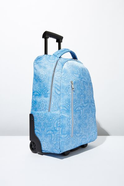 Soft Shell Suitcase, BLUE MANDALA