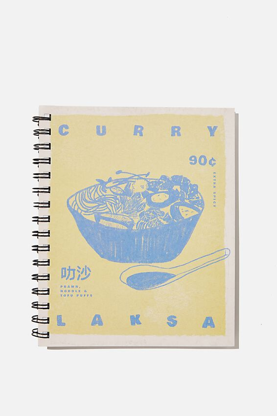A5 Campus Notebook Recycled, RG ASIA LAKSA ILLUSTRATION