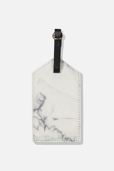 Luggage Tag, WHITE MARBLE