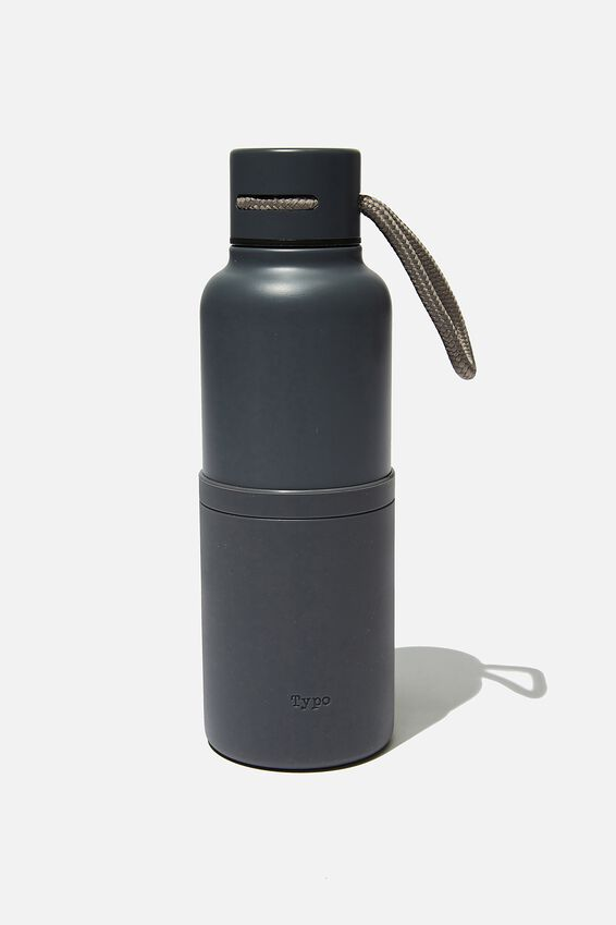 The Loop Metal Drink Bottle, WELSH SLATE