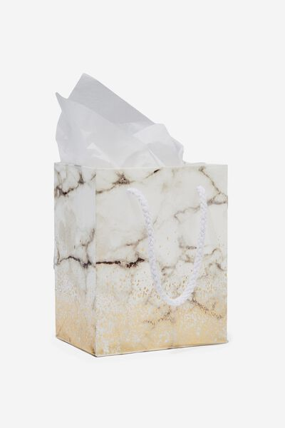 Stuff It Bag - Extra Small With Tissue, GOLD MARBLE