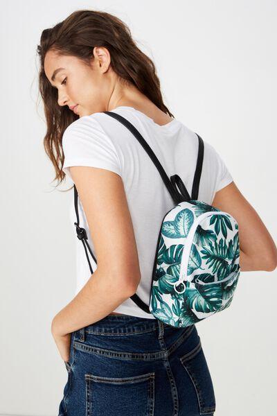 Mini Cairo Backpack, LEAF PRINT
