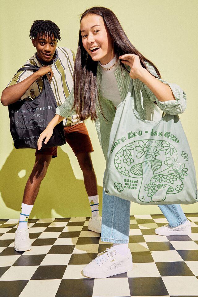 Foldable Shopper Tote Bag, MORE ECO LESS EGO