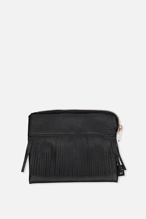 Luxe Pencil Case, BLACK FRINGE