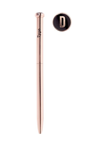 Initial Ballpoint Pen, ROSE GOLD D