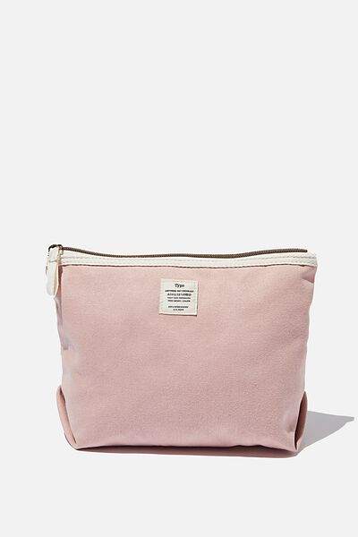 Canvas Travel Pouch, NUDE PINK
