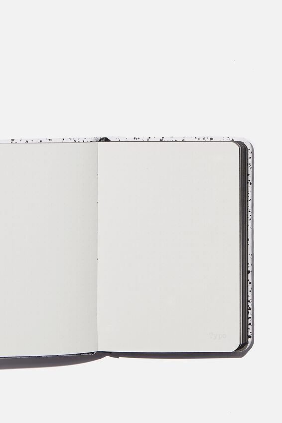 A6 Buffalo Dot Journal, WHITE SPLATTER