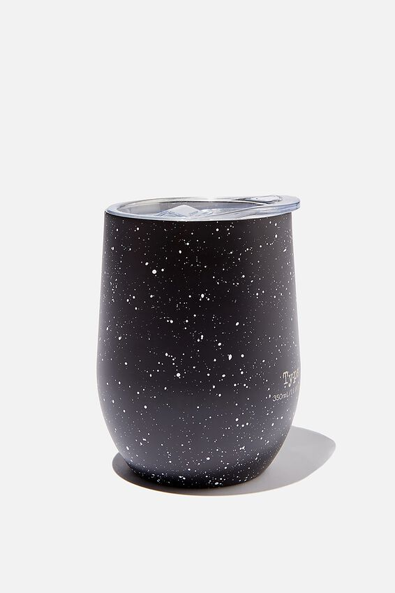 Metal Travel Tumbler, BLACK BASE SPLATTER
