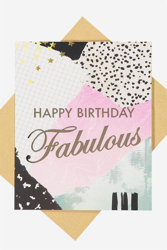 Nice Birthday Card, FABULOUS