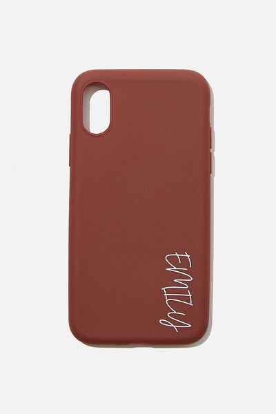 Personalised Recycled X, Xs Case, MULBERRY