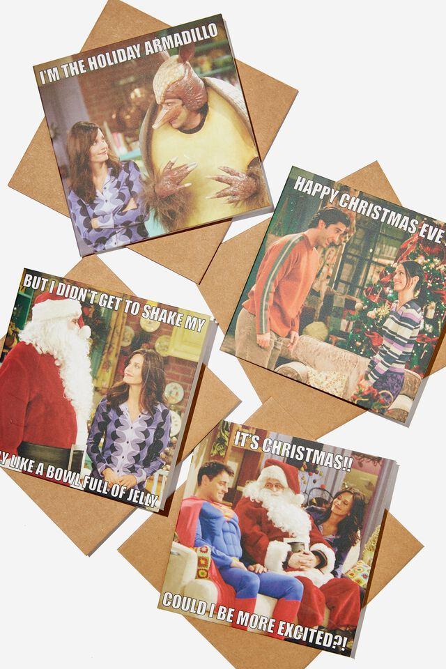 Friends Christmas Card 20 Pack, LCN WB FRIENDS