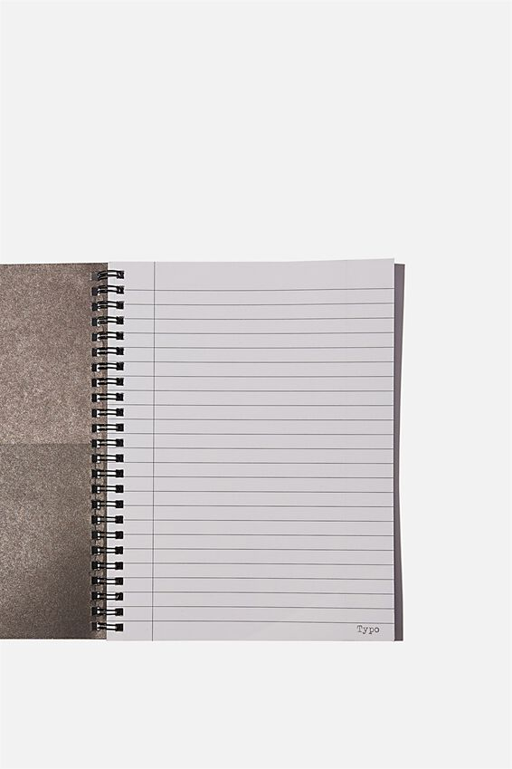A5 Spinout Notebook Recycled, BW TIE DYE