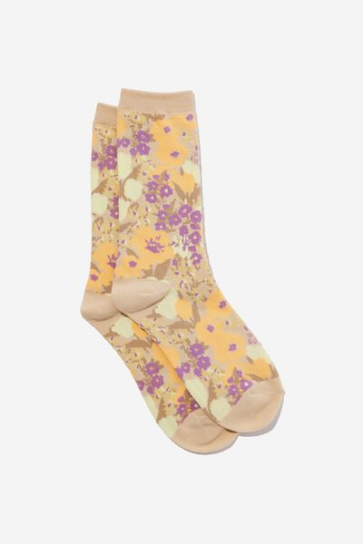 Socks, HAVE A F*CKING NICE DAY FLORAL !!