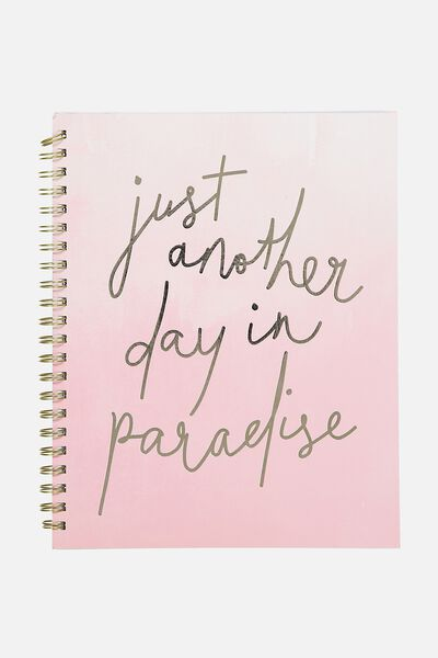 A4 Campus Notebook - 240 Pages, PARADISE PINK WATERCOLOUR
