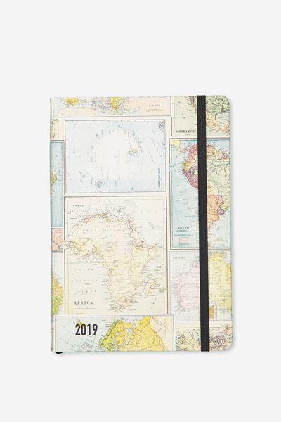 2019 A5 Medium Daily Buffalo Planner, GRID MAP