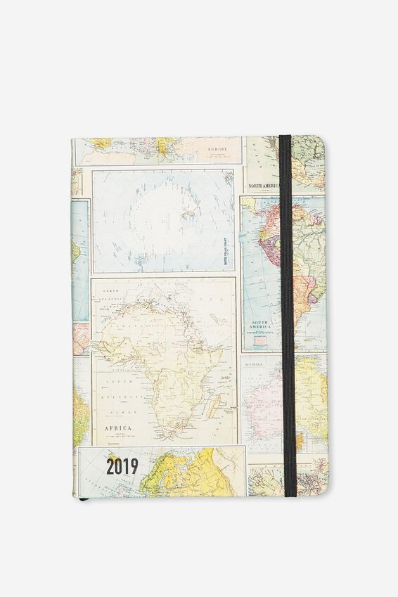 2019 A5 Daily Buffalo Diary, GRID MAP