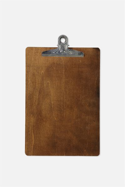 Wooden A4 Clipboard, VINTAGE WOOD