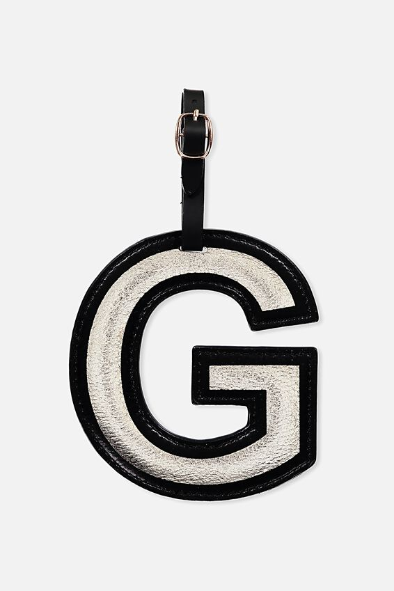 Shaped Alphabet Luggage Tag, G
