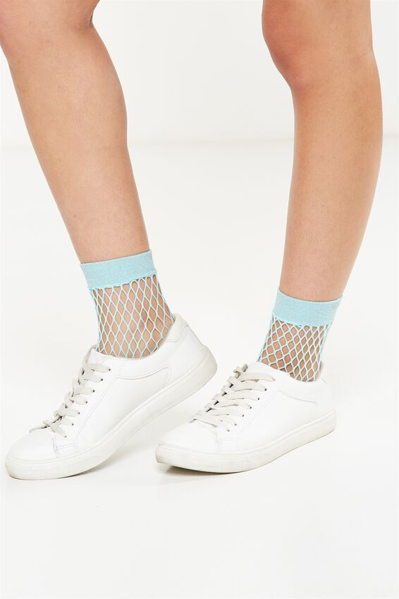 Womens Novelty Ankle Socks, FRANKIE FISHNET