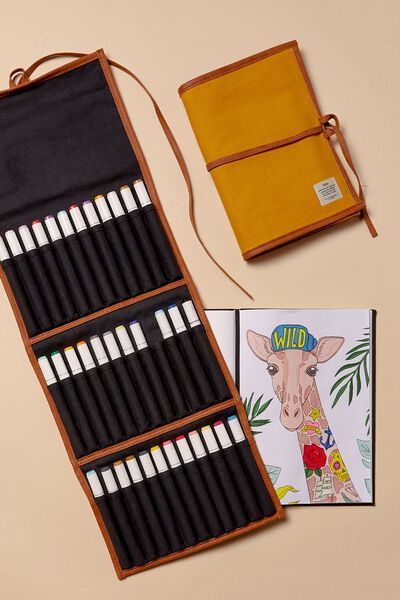 Artists  Marker Case 36, MUSTARD CANVAS
