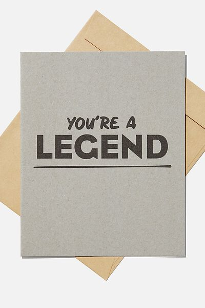 Blank Card, YOURE A LEGEND