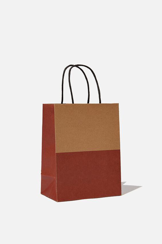 Get Stuffed Gift Bag - Small, KRAFT RUST