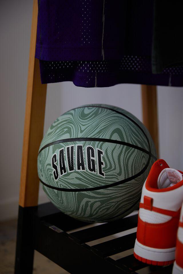 Basketball Size 7, SAVAGE WARPED ZEBRA