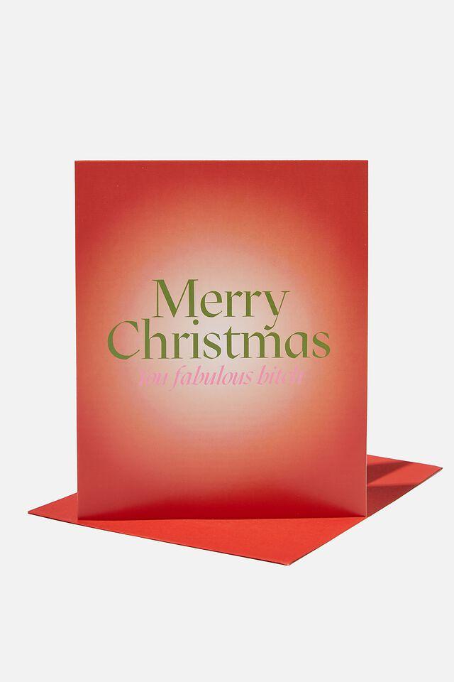 Christmas Card 2021, MERRY CHRISTMAS YOU FABULOUS BITCH!
