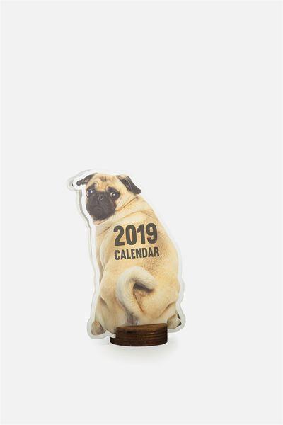 2019 Shaped Calendar, PUG