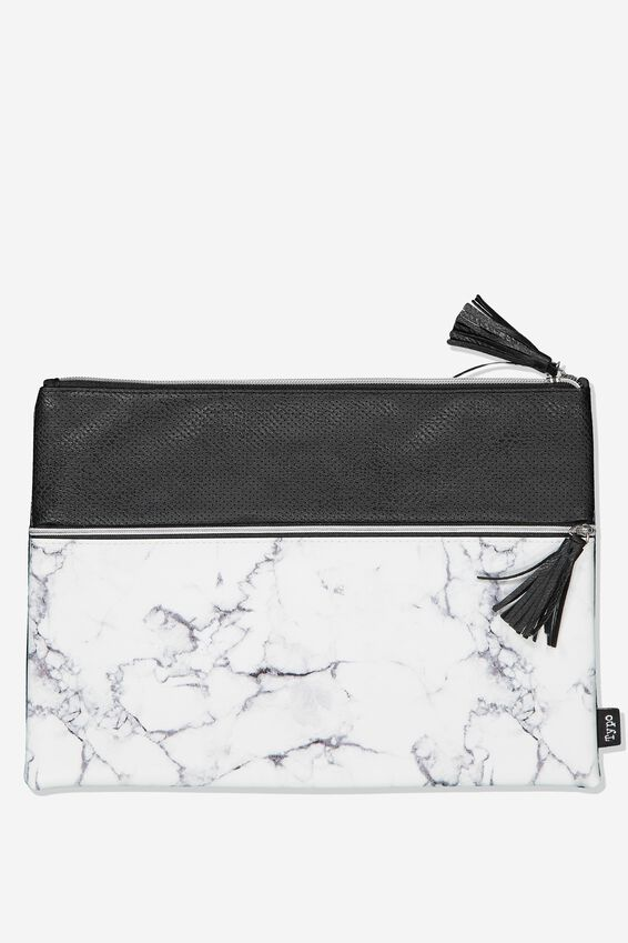Big Bro Pencil Case, MARBLE BLACK PERF