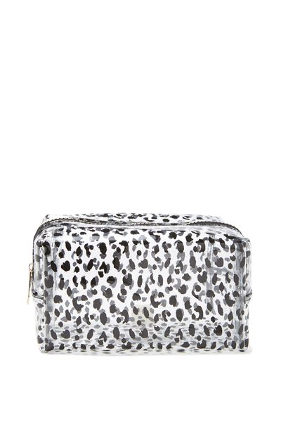 Made Up Cosmetic Bag, LEOPARD