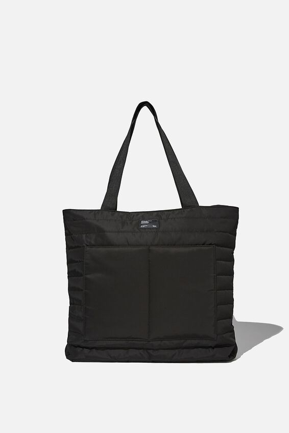 Utility Daily Tote, BLACK AND GREY