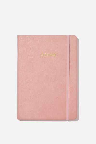 Personalised A5 Buffalo Journal, DUSTY ROSE