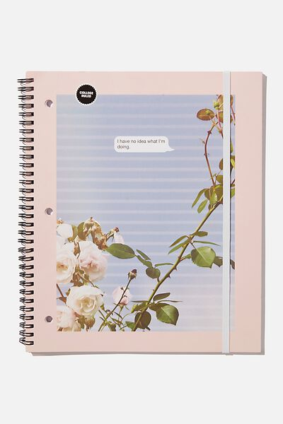 College Ruled Spinout Notebook V, NO IDEA