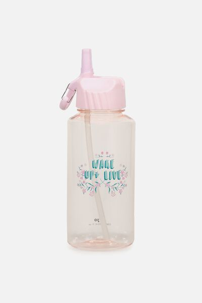 Suck It Up Drink Bottle, PINK WAKE UP & LIVE