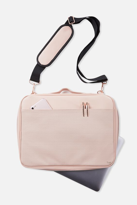 Mobile Laptop Folio, BLUSH PERFORATED