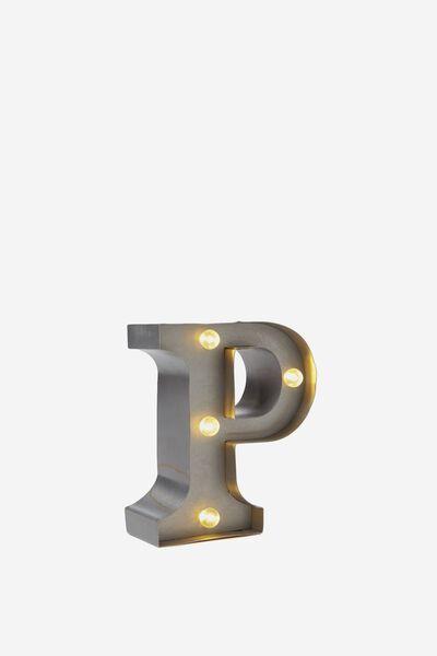 Mini Marquee Letters 10Cm, SILVER P